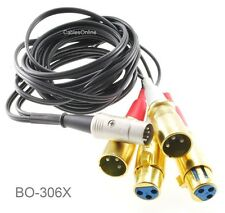6ft DIN 5-Pin to 4-XLR 3-Pin 2/Male 2/Female Audio Cable for B&O, Naim or Quad