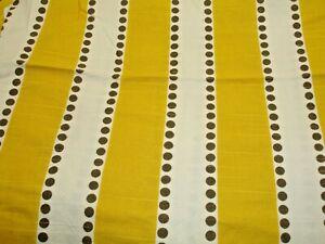 M#13- 2 1/3 Yards Fabric, Multi Purpose Home & Upholstery Yellow & White 36 wide
