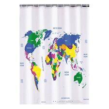 Duschvorhang Weltkarte Welt 180 x 180 cm inkl Ösen Badewannenvorhang NEU / OVP
