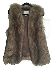 Country Road Faux Fur Vest Size XS In Excellent Condition