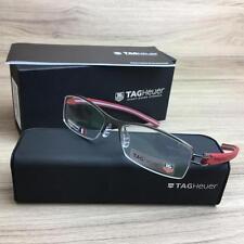 TAG HEUER TH 7622 TH7622 Eyeglasses Frames Gunmetal Red 013 Authentic 55mm