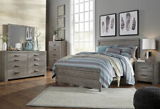 NEW Modern Design Gray Finish 5 pieces Bedroom Set w/ Queen Size Panel Bed IA21