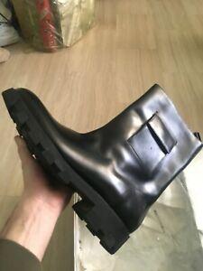 stivali Balenciaga neri in pelle 44 EU 10 UK