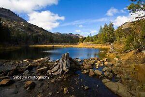 Lake Tahoe Landscape Metallic Print 11 x 14