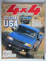 4X4 MAGAZINE N° 143 /Spécial USA/HUMMER CIVILIAN/FORD RANGER/GRAND CHEROKEE 4.0L