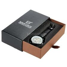 Naviforce Watch Box Jewelry Rings Bracelets Case Slider Drawer Gift Boxes R2C5