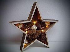 3D LED bois étoile sans câble décor de fenêtre illuminé Tableau mural avec