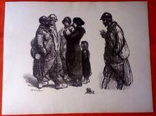 Lithographie - Steinlen - Sans famille - Guerre 14-18-
