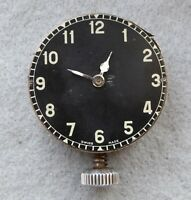 Military style car clock for repair, 44 x 14 mm, broken balance.