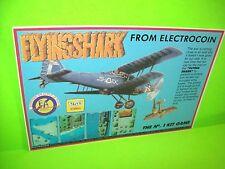 Taito FLYING SHARK Original NOS 1987 Video Arcade Game Flyer Electrocoin UK Rare