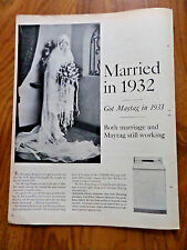 1962 Maytag Washer Ad Mrs A W Bell of Vandergrift PA Married in 1932