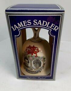 Prince Charles Lady Diana Wedding Ceramic Bell Vintage James Sadler BOXED