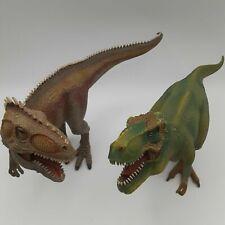 Schleich Tyrannosaurus Rex T-Rex Giganotosaurus Dinosaurs Lot 73527 Poseable Jaw