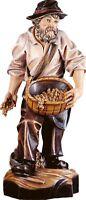 Statue Skulptur Sämann CM 15 IN Holz Der IN Gröden Dekoriert Hand