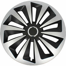 VW Satz original 4x Fox Radblenden Radkappen Raddeckel 15 Zoll schwarz silber
