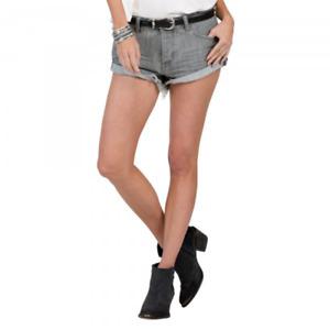 Women's VOLCOM Stoned Rolled Boyfriend Shorts. US 5/UK 8-9, Vintage Grey