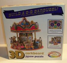 New Sealed 1993 CEACO 3D CAROUSEL 745 Pc Jigsaw Puzzle #1026