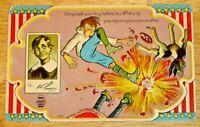 Vintage 1910's Unused Embossed Humorous 4th of July Post Card