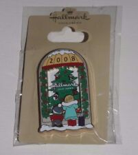 "2008 Hallmark Gold Crown ""Christmas Store Window"" Enamel Pin Unused"