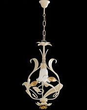 Hanging Chandelier Classic Wrought Iron Leaves Flowers Product