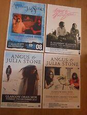 Angus & Julia Stone - Scottish tour concert gig posters x 4