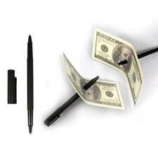 Funny Close up Magic Black Pen Penetration Through Dollar Paper Bill Money Trick