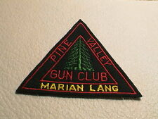 PINE VALLEY MARIAN LANG NEW JERSEY GUN CLUB SPORTSMENS FISH DEER HUNTING PATCH