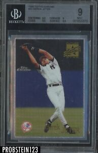 1996 Topps Chrome #80 Derek Jeter New York Yankees HOF BGS 9 w/ 9.5