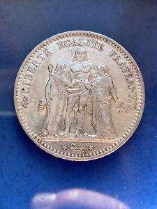 5 FRANCS ARGENT HERCULE 1874 A