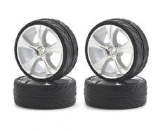 Carson 500900064 - 1:10 Big Wheel-Set On-R.13 Silb/W 4 St. - Neu