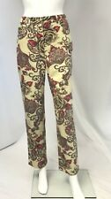 ST JOHN SPORT By MARIE GRAY Floral Stretch Twill Jean Cut PANT Size 4