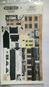 * BILT EEZI G1 Shops in Low Relief 2 mm scale Model N Gauge Card Kit