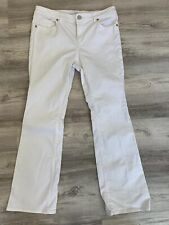 (M69g) Ann Taylor White Jeans Flare 8 29 Flare