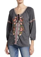 NEW Johnny Was Juliene Embroidered Peasant Blouse Size Extra Large XL