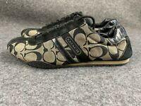 Coach Signature Sneakers Women's Size 8 M Katelyn Black Lace Up Tennis Shoes