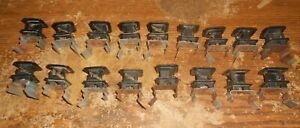 17-lot t post metal clip on single wire fence insulators in good shape used