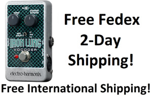 New Electro-Harmonix EHX Iron Lung Vocoder Guitar Effects Pedal