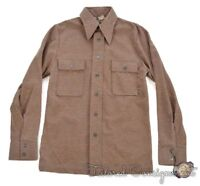 LEVI'S PANATELA Vintage VTG Brown Polyester Shirt SUIT Pants NWT Small / 36 S