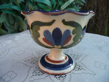 VTG  TORQUAY POTTERY MOTTO WARE PEDESTAL BOWL SCANDY PATTERN FRESH FROM DAIRY