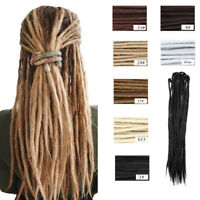 "20"" Handmade Dreadlocks Double Ended Dreads Synthetic Faux Locs Hair Extensions"