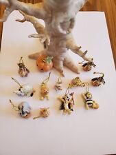Vintage Rare Disney Lenox Pooh Halloween Trick or Treat Tree with all Figurines