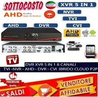 DVR IBRIDO CLOUD 5 IN 1 NVR CVI TVI HVR AHD ANALOGICO 8 CH CANALI FULL 1080P new