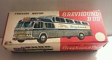 1950's VINTAGE TIN TOY DOUBLE DECKER GREYHOUND BUS JAPAN BOX ONLY VERY NICE !
