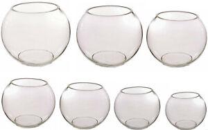 Glass Fishbowl Bubble Vases Centrepiece Wedding Snowman 15-25cm Bulk or Single