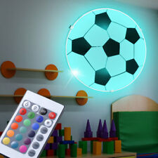 RGB LED Fußball Wand Leuchte Kinder Zimmer Fernbedienung Decken Lampe dimmbar
