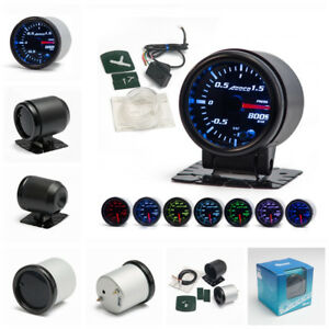 """7 Color 2"""" 52mm LED Electrical Car Bar Turbo Boost Gauge Meter With Sensor"""