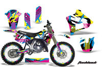 Graphics Kit Decal Sticker Wrap + # Plates For Yamaha YZ125 YZ250 91-92 FLASHBCK