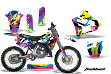 Yamaha YZ250 Graphic Kit Wrap + Number Plate Decals Stickers 1991-1992 FLASHBACK