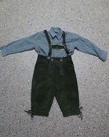 2 tlg. Jungen Kinder Trachten Set in Größe 122/128 Hemd Hose L189