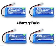 4 Packs of E-Flite MCP X BL 30C 200mAh 2S 7.4V LiPo Battery # EFLB2002S30